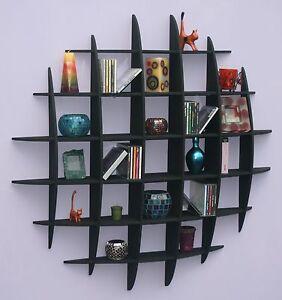 DVD / CD storage rack wall mounted unit retro style shelving