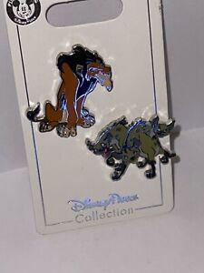 Disney Parks Pin - The Lion King - SCAR and Hyenas 2 Pin Set - NEW