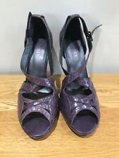 Jones purple shoes sandles worn once for a wedding snakeskin 6 39