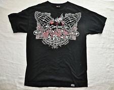 MEDAL MULISHA THORNS ROSES HEART FIRE  T Shirt (Tee Shirt) Black Cotton Medium