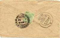 1916 Sg 155 ½a light green Cover to Prome with RANGOON R.M.S./SET 1 railway cds