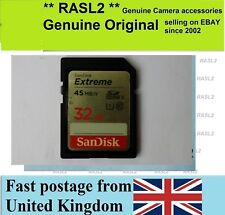 SanDisk 32 GB SD HC Memory card For HD Video Recording Canon Panasonic Sony JVC