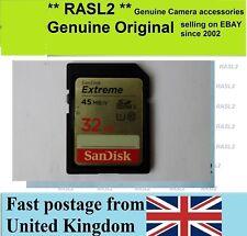 Sandisk de 32 GB SD HC Tarjeta de memoria para la grabación de vídeo HD de Canon JVC Panasonic Sony