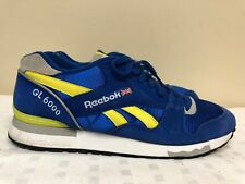 Reebok GL 6000 Men Blue/Yellow Athletic Sneakers -SAMPLE- Size 12 EUR 45.5
