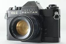 """EXC+++"" ""Lens NEAR MINT"" Pentax ESII ES2 Black SLR Film Camera w/55mm Lens #557"