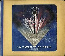 """""""UN MICRO DANS LA BATAILLE DE PARIS"""" Coffret 4x78 tours original français (MINT)"""