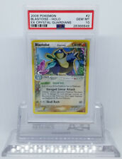Pokemon EX CRYSTAL GUARDIANS BLASTOISE 2/100 HOLO FOIL PSA 10 GEM MINT #28366849