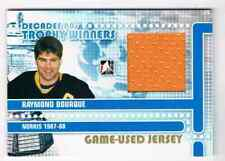 2011-12 ITG IN THE GAME DECADES 1980S RAY BOURQUE JERSEY 1 COLOR GOLDVERSION