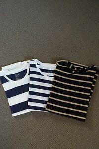 Muji 3-pack short sleeve t-shirts size M-L (size 10)