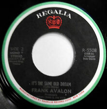 FRANKIE AVALON 45 I'm In the Mood For Love NEAR MINT Dance POP Regalia e2933