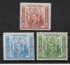 PHILIPPINES , USA , 1936 , PRES . QUEZON , SET OF 3  STAMPS ,  PERF, VLH