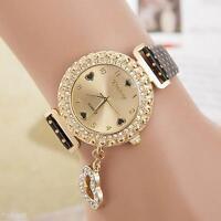 New Women's Fashion Luxury Ladies Leather Strap Quartz Watch Wristwatch Gift
