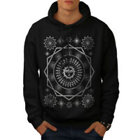 Wellcoda Pagan Sun Symbolism Mens Hoodie, Folklore Casual Hooded Sweatshirt