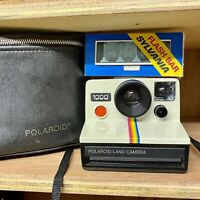 Polaroid Land Camera 1000 ! RED Button! Working Order! SX-70 Film Retro Lomo!