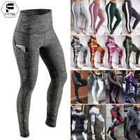 Womens Sports YOGA Workout Gym Fit Leggings Pants PUSH UP Athletic Clothes A180