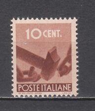 ITALIA 1945 Democratica 10 centesimi bruno nuovo **