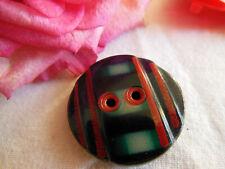 bouton ancien en celluloid bleu rouge vert collection diamètre 2,7 cm G12C