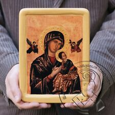 Our Lady of Perpetual Help Virgin Mary Byzantine Gold Plating Religious Icon Art