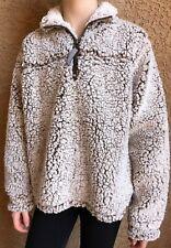 Cuddly Sherpa girls Quarter Zip Fleece Pullover Size Small