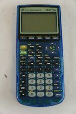 Texas Instruments TI-83 Plus Transparent Blue Calculator
