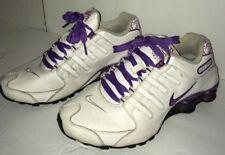 Women's Nike Shox Turbo White purple Running shoes 2009 sz 7.5 free shipping