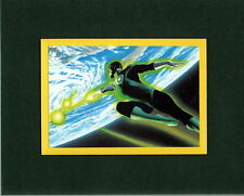 GREEN LANTERN In SPACE PRINT PROFESSIONALLY MATTED Alex Ross