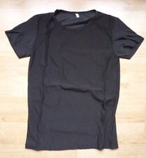 Mens Shirt Black size S/M Short Sleeve Top Casual Night Out Bar Party Fit Muscle