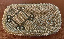 Vintage VTG Gold Sequin Snap change pocketbook purse Made in Japan