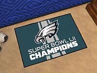 Philadelphia Eagles Super Bowl LII Champions Rug Car Mats Grill Mat