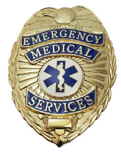 EMS Emergency Medical Service Metal Badge in GOLD Color #4183G