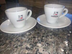 LAVAZZA Espresso coffee 2 cups and 2 saucers