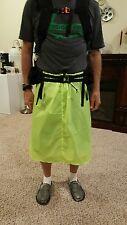 "Jimmy Tarps UL"" Cascade"" Rain Kilt Skirt Sil Poly 1.1 Neon Green NEW"