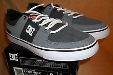 NEW! DC   Lynx Vulc Mens    LEATHER   size 9 Grey Red & White  Skate  Shoes