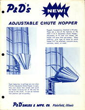 Vintage brochure Farm Machinery P&D's Adjustable Chute Hopper
