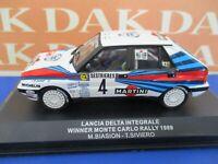 Die cast 1/43 Modellino Auto Lancia Delta Int. Rally Monte Carlo 1989 M.Biasion