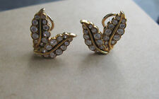 Stunning Vintage Van Cleef & Arpels 18 Karat Gold Floral Diamond Earrings