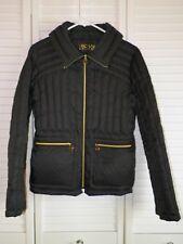 Michael Kors Black Packable Down Zip Up Jacket Sz Small Cute Puffy Lightweight