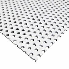 White Painted Aluminum Perforated Sheet, 0.040
