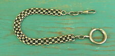 Vintage Silver Pocket Watch Chain or Bracelet with Big Spring Ring