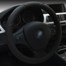 Durable PU leather Car Auto Steering Wheel Cover 15'' 38cm All Seasons Fit BLK