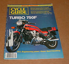 10/1980 Cycle Guide Magazine  Honda 750F Turbo