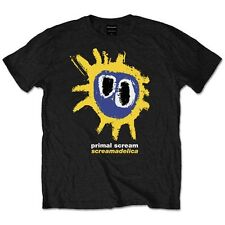 Official Primal Scream Screamadelica Print Black Unisex T Shirt - 90s Band Tee Small