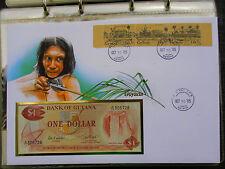 * Banknotenbrief Guyana 1985* mit 1 Dollar