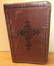 Compact BIBLE...Cranberry  w/Antique Cross...English Standard Version NEW!