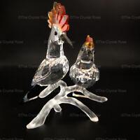 RARE Retired Swarovski Crystal Hoopoes 925080 Mint Birds Feathered Beauties