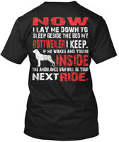 Rottweiler Security - Protected By Now I Lay Me Down Hanes Tagless Tee T-Shirt