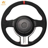 Black Suede Steering Wheel Cover for Toyota 86 2012-15 Subaru BRZ 2012-15 #0464