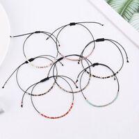 Bracelet Women Seed Bead String Chain Cuff Bangle New Fashion Jewelry Handmade