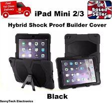 Tough Military Hard Rugged Armour Silicone Rubber Case for iPad Mini 1/2/3 BLACK