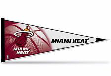 """New NBA Miami Heat Pennant 12""""x30"""" made in USA Banner Flag"""